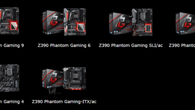ASRock Z390 chipset Phantom Gaming motherboards
