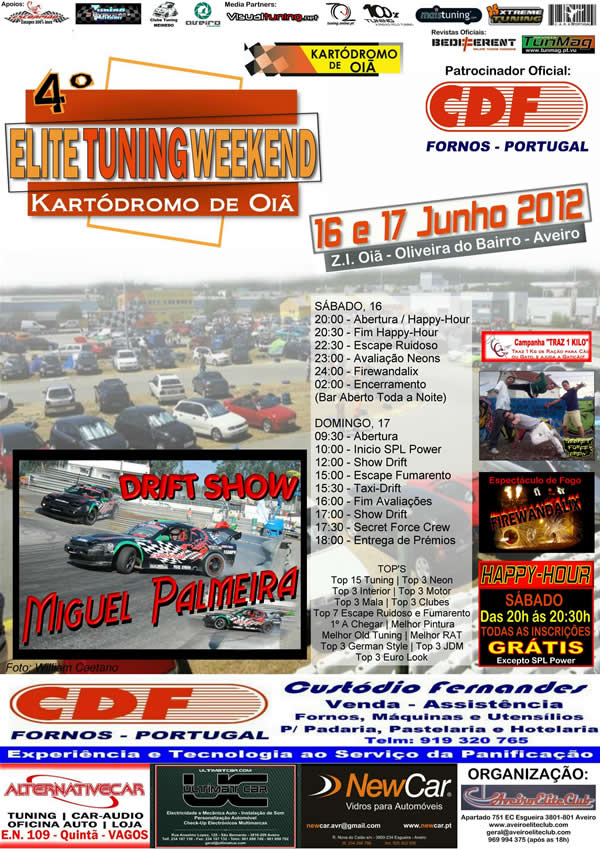 cartaz elite tuning weekend 2012