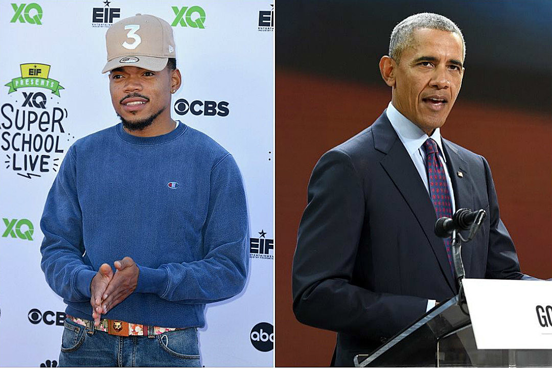 Image result for Chance The Rapper Joins Barack Obama