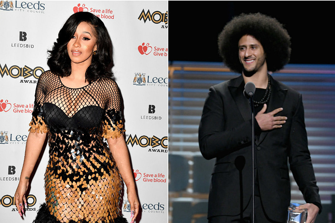 Image result for CARDI B BOYCOTTS SUPER BOWL HALFTIME SHOW UNLESS COLIN KAEPERNICK RETURNS TO NFL