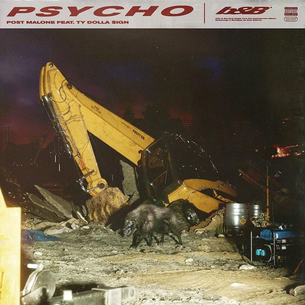 post malone New Post Malone x Ty Dolla Sign 'Psycho' Banger Teased [Listen] Post Malone Pyscho Cover Art Full