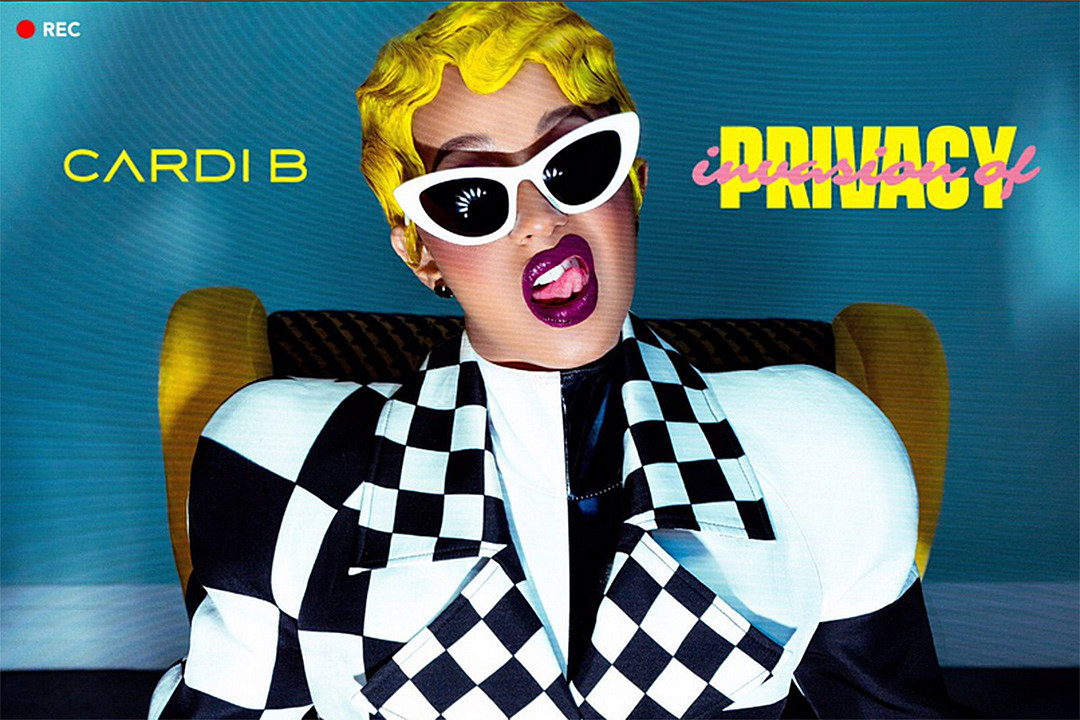 Image result for CARDI B SHARES DEBUT ALBUM 'INVASION OF PRIVACY' RELEASE DATE AND COVER ART
