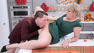 Rions fantasy becomes reality, as Dee strokes, sucks and fucks his man meat