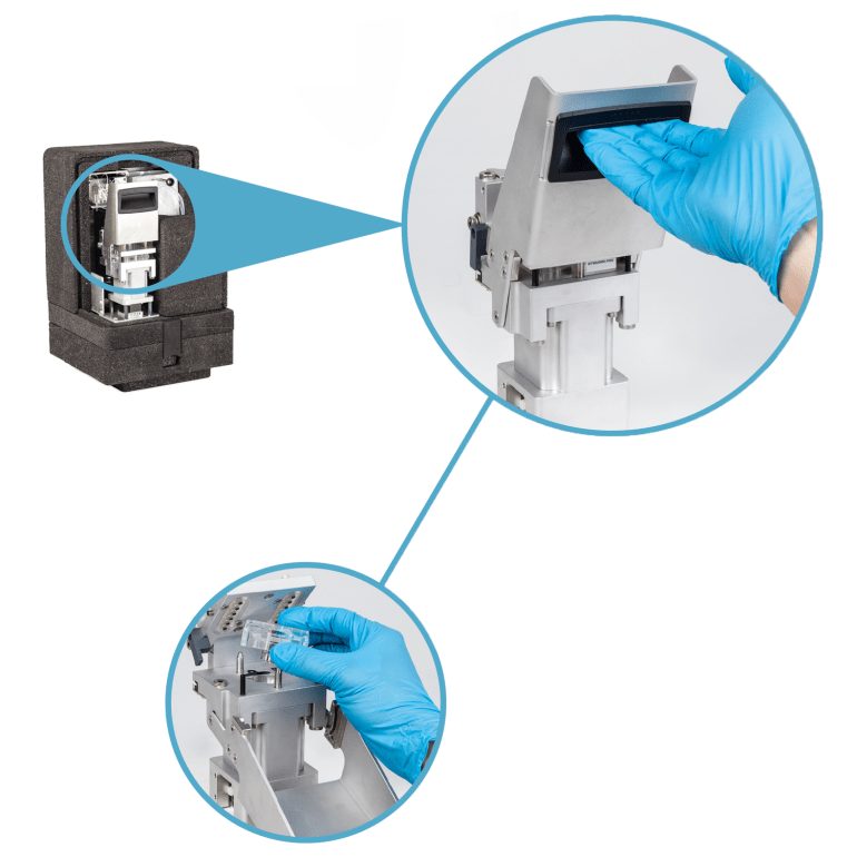Multiport Valve in the wet part of the Alyza IQ