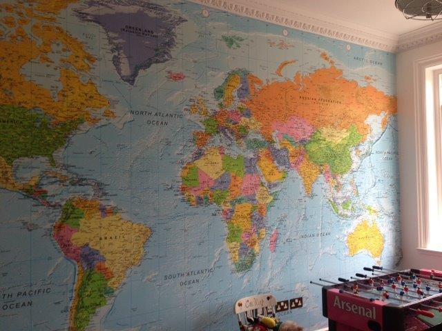 Custom World Wall Maps   XYZ Maps Giant World Map Wallpaper