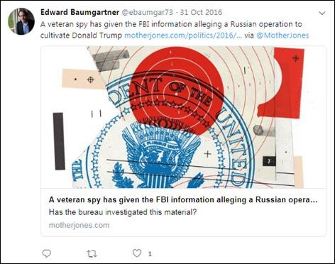 Baumgartner Trump as a double agent 2