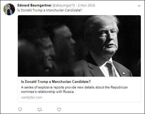 Baumgartner Trump as a double agent