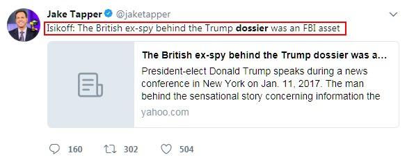 Jake Tapper Dossier Twitter