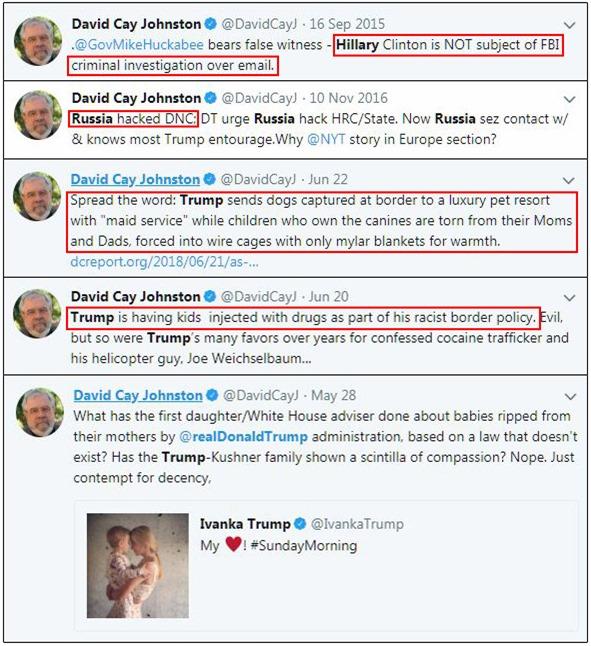 A Few Trump News Pearls from David Cay Johnston