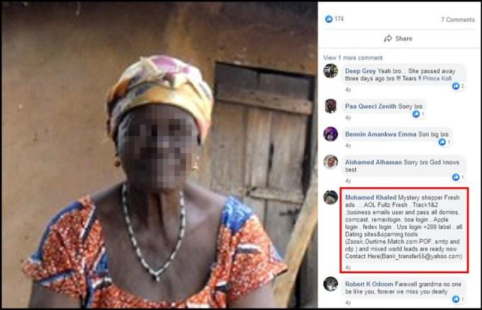 Deep Grey Dead Grandma Messaging