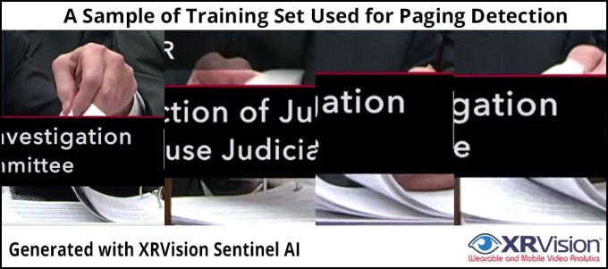 Sample of Training Sets for Paging Detection