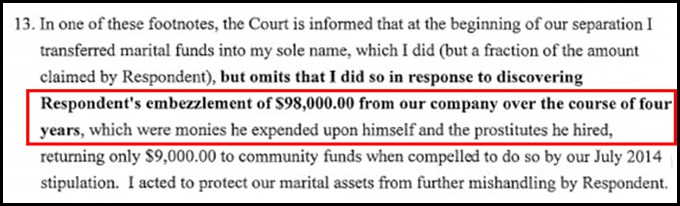 Claim of embezzlement against David Mikkelson