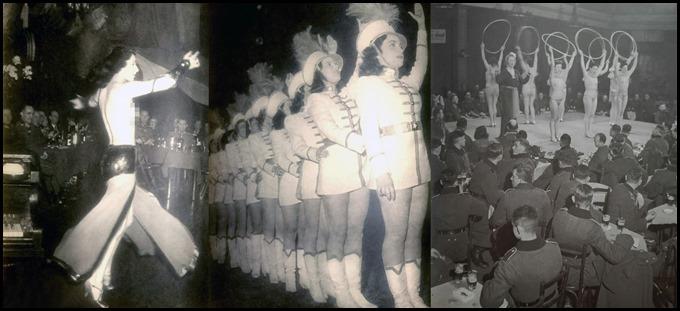 German soldiers attend a nightclub cabaret