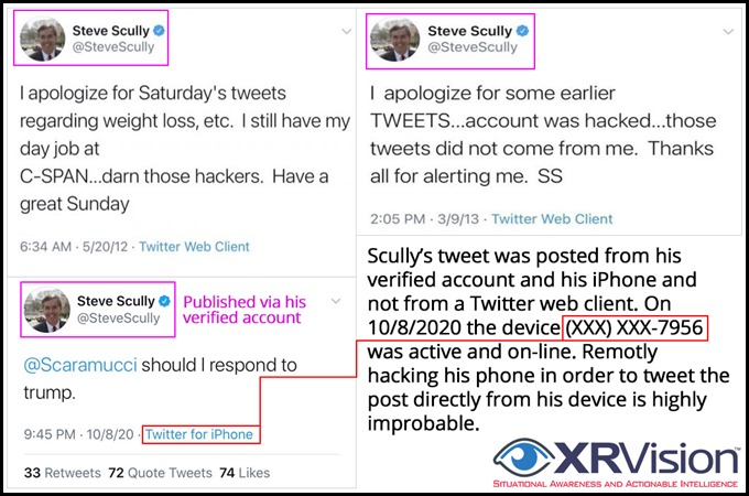 Steve Scully false hacking claim