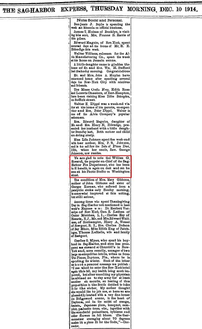 A12  12-10-1913 William Howard Feeling Better Clip