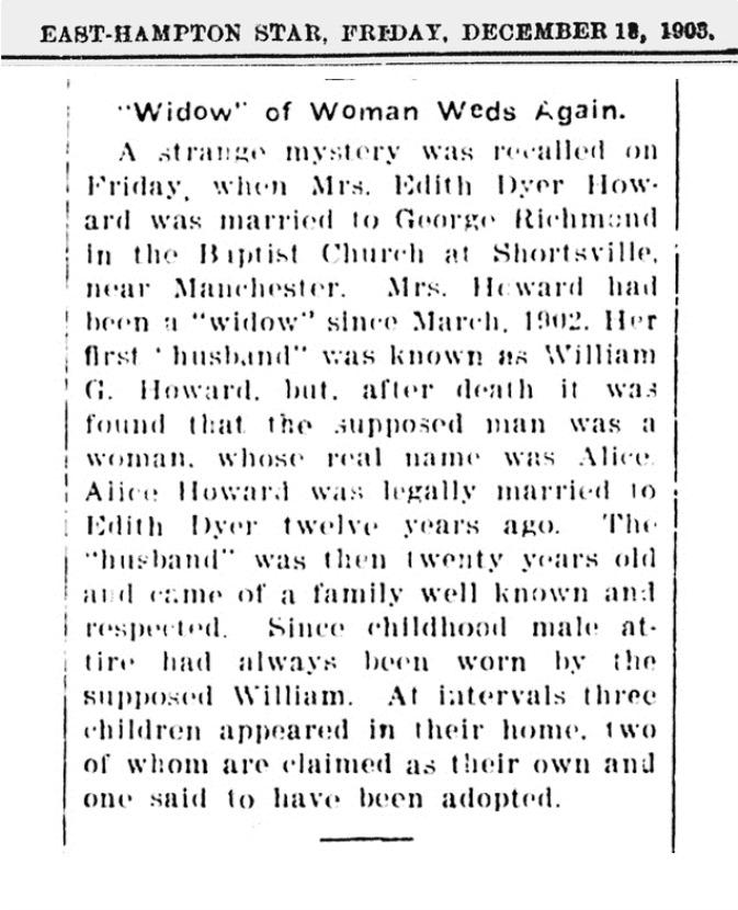 Widow of Women Weds Again
