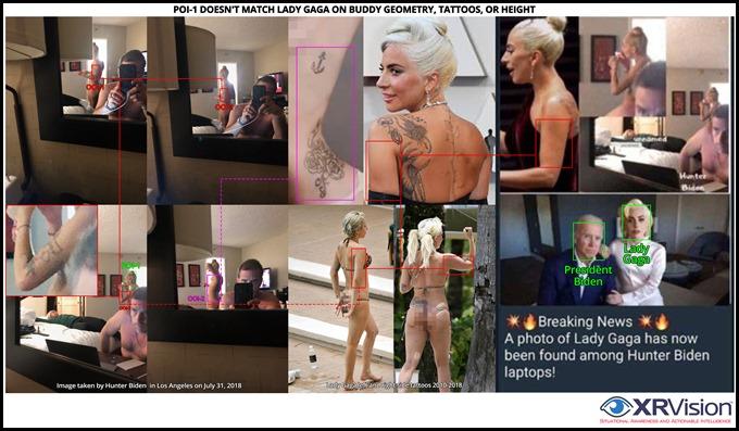 Fake Hunte rand Lady Gaga Match