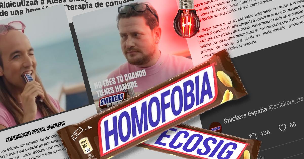 Snickers España promueve discursos odiantes