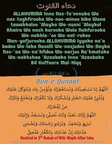 dua-e-qunoot-in-english translation