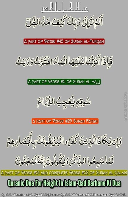 Surah in Quran to Increase Height