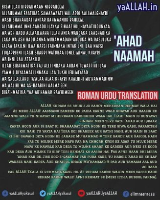 ahad nama roman urdu translation