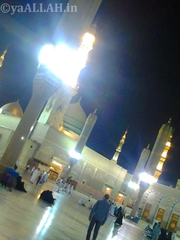 Masjid Nabawi Wallpaper At Night_yaALLAH.in_2