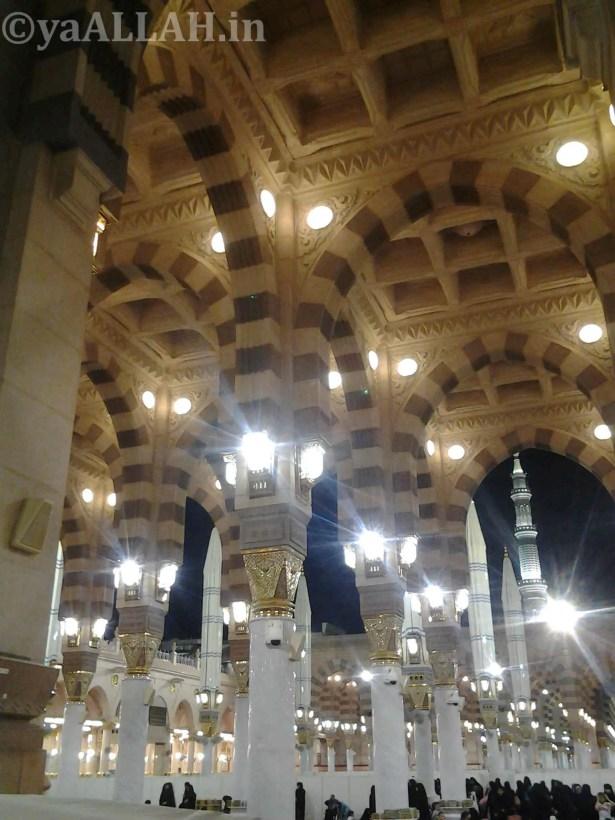 Masjid Nabawi Wallpaper At Night_yaALLAH.in