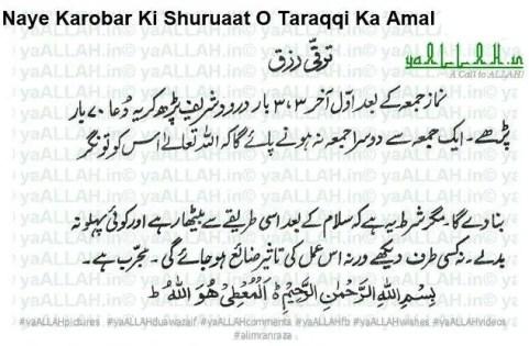 Naye Karobar Ki Shuruaat O Taraqqi Ka Amal