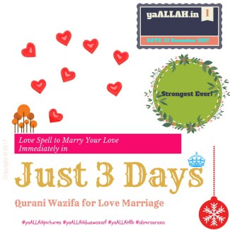 most powerful Wazifa for Love Back in 3 Days