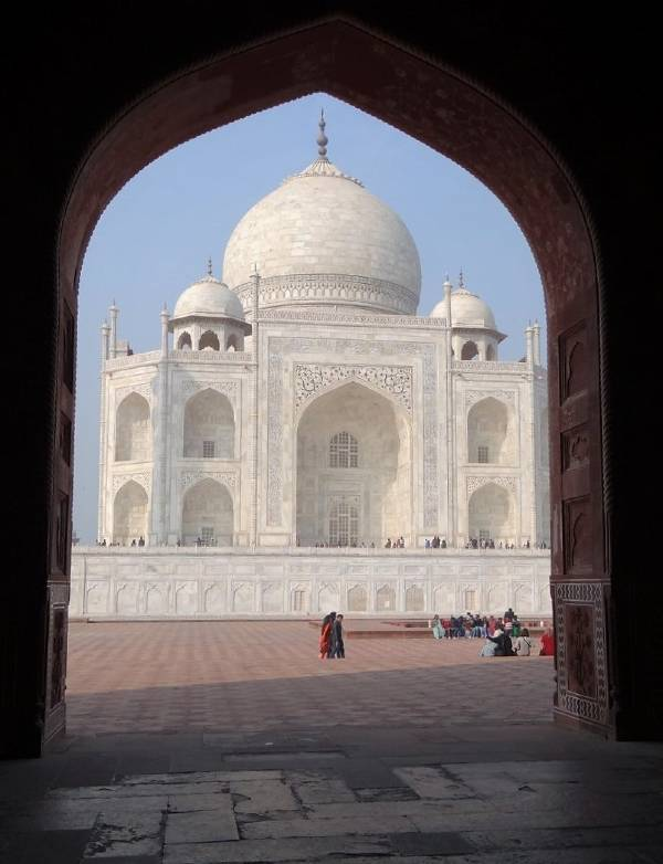 Inde Taj Mahal mausolée en marbre blanc