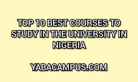 Top 10 Best LucrativeCourses To Study In School In Nigeria 2020