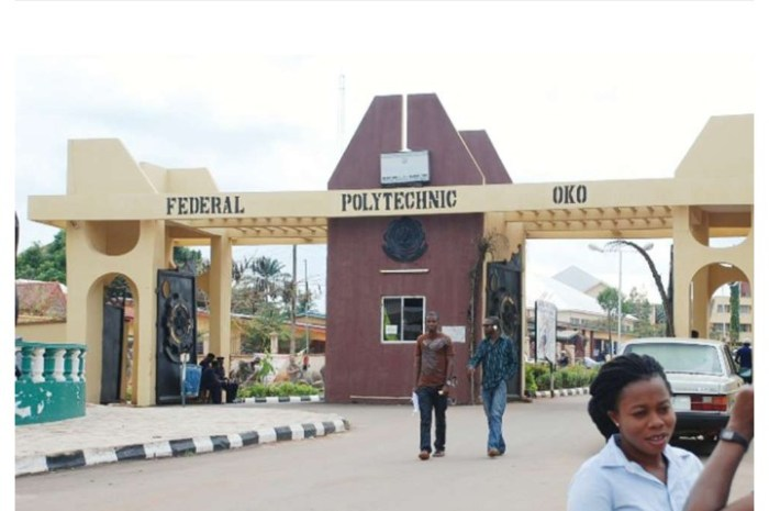 Fed Poly Oko Admission List 2020/2021 Out on JAMB CAPS