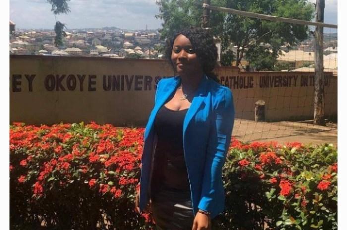 Meet The Best Graduating Student of Godfrey Okoye University (Photos)