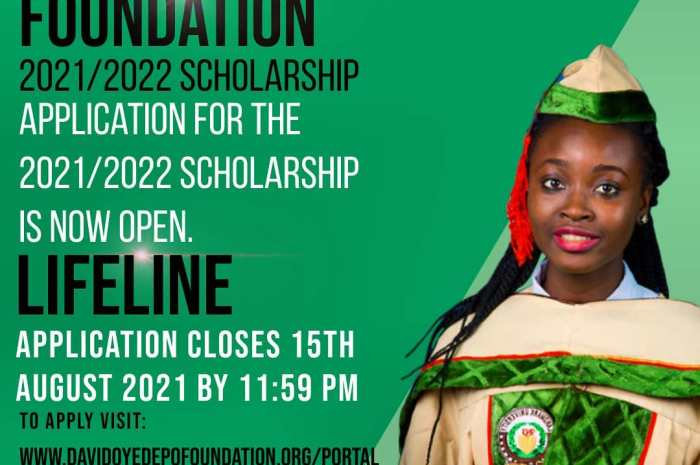 David Oyedepo Foundation Scholarship for 2021/2022 form is Out – See How To Apply