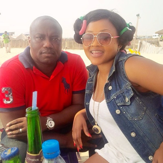 Mercy-Aigbe-At-The-Beach-YabaLeftOnline