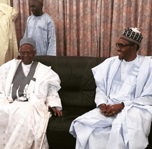 Muhammed Buhari Meets Shehu Shagari