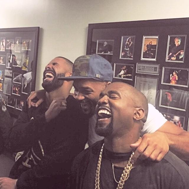 Drake And Kanye Laugh