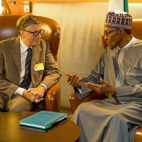 Bill Gates and Buhari