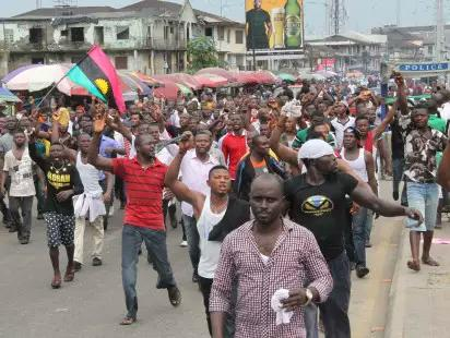 Biafra Protesters1