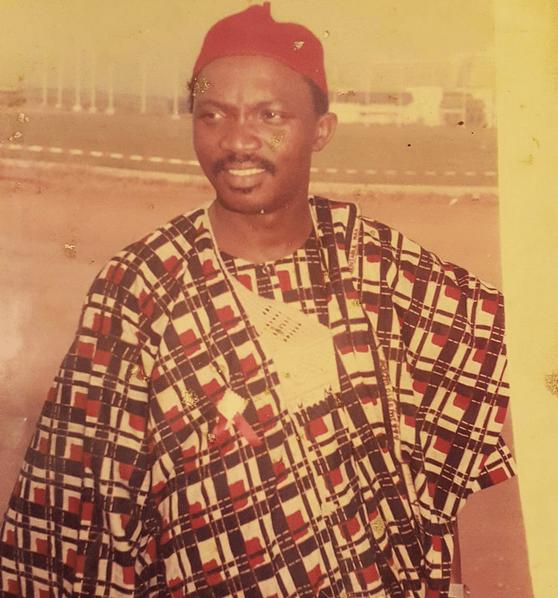 Toke Makinwa's Late Dad