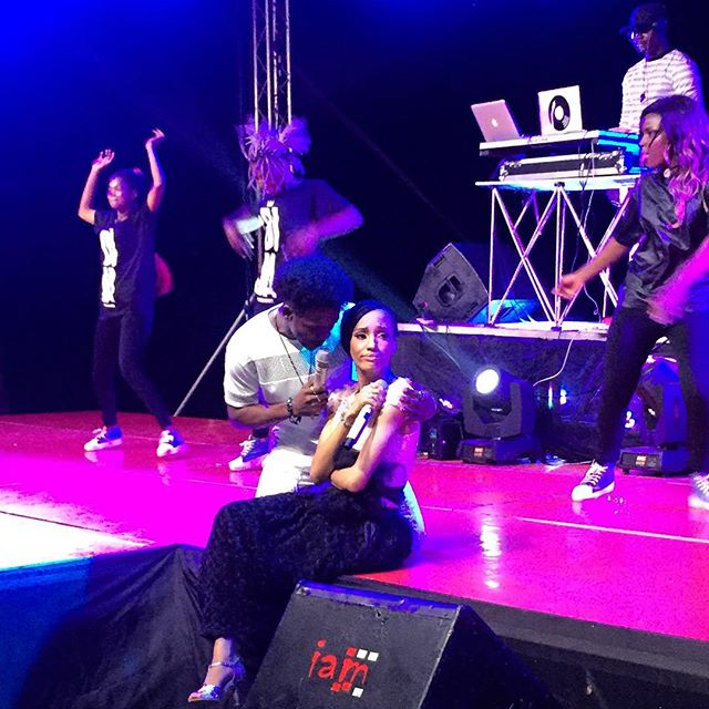 Korede Bello Declares Love For Di'ja As He Cuddles Her During Performance
