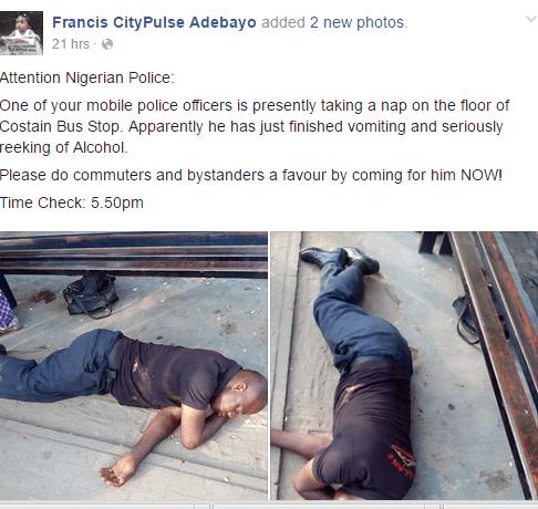 Drunk Nigerian policeman1