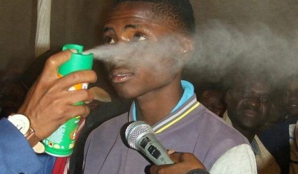 Prophet defends spraying church members