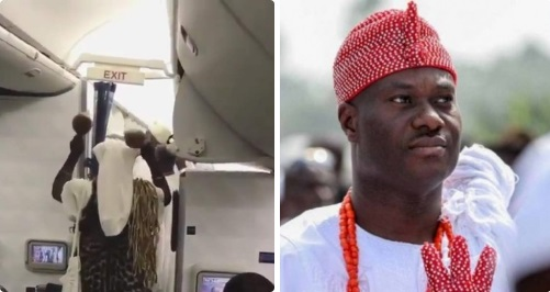ooni ife boarded plane