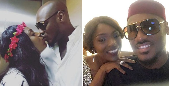 Annie Idibia celebrates 2Face