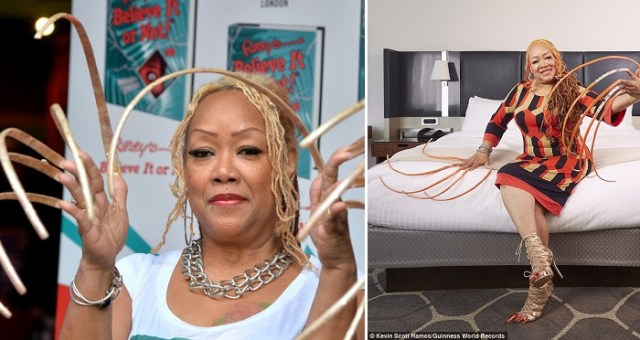 Meet The Woman Who Spent 23 Years Growing The World's Longest Fingernails With A Length Of More Than 18 Feet. (Photos)