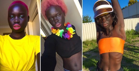Meet 19-year-old dark-skinned model, Florence Baitio (photos)
