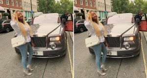 DJ Cuppy Flaunts Customized Rolls Royce
