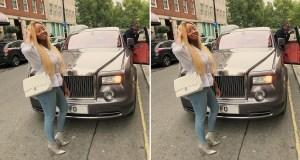 DJ Cuppy Flaunts Customized Rolls Royce