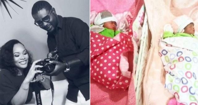 Lanre Makun Welcomes Twins